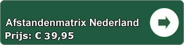 Afstandenmatrix Nederland